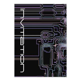 "Art Techno maps 5"" X 7"" Invitation Card"