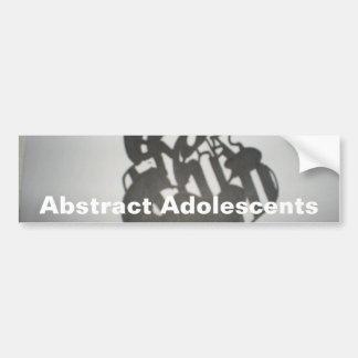 Art Text Eroxion Bumper Stickers