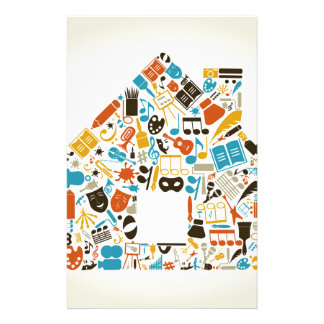 Art the house stationery