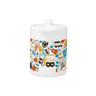 Art the house teapot