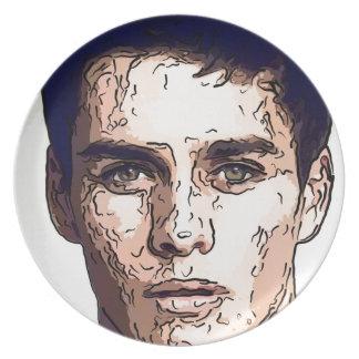 art - the male model plate