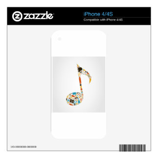 Art the note iPhone 4 skins