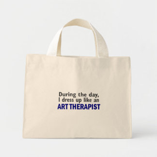 ART THERAPIST During The Day Canvas Bag