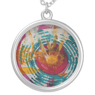 Art Therapy Round Pendant Necklace