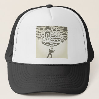 Art transformation trucker hat