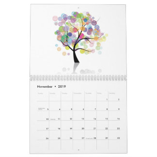 Art trees calendar