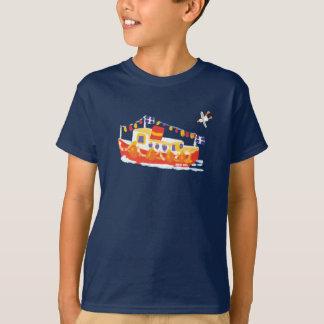 Art Tshirt: Falmouth Ferry Boat, Cornwall. T-Shirt