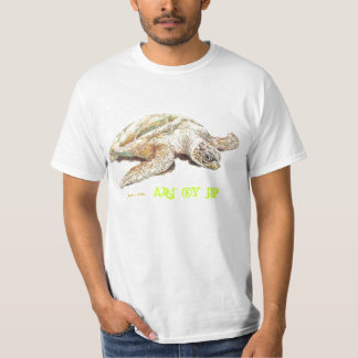 Art-Turtle Male/Female T-Shirt White