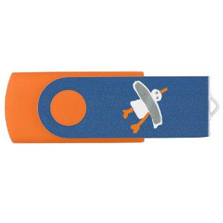 Art USB Stick: John Dyer Seagull Blue Orange Flash Drive