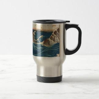 art vintahge Japan 15 Oz Stainless Steel Travel Mug
