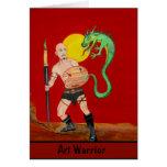 Art Warrior Watercolor Painting Card 1