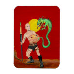 Art Warrior Watercolor Painting Flexi Magnet