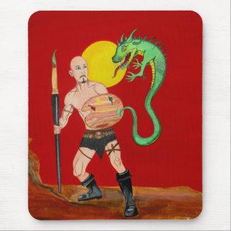 Art Warrior Watercolor Painting Mousepad