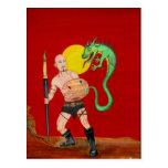 Art Warrior Watercolor Painting  Postcard