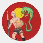 Art Warrior Watercolor Painting Sticker