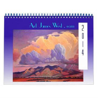 Art West 2014 Calendar Fantastic Clouds and Roads