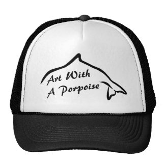 Art With A Porpoise Logo Mesh Hats