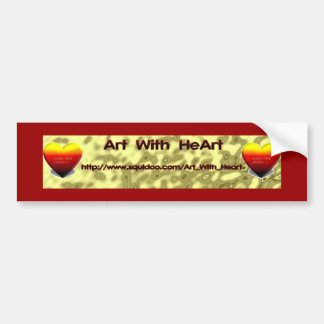 Art with Heart  Bumpersticker Bumper Sticker