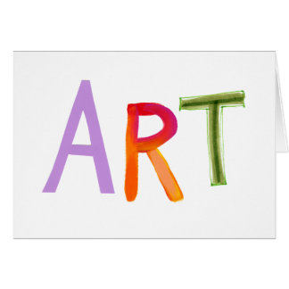 Art word fun colorful - for artists & works of art card