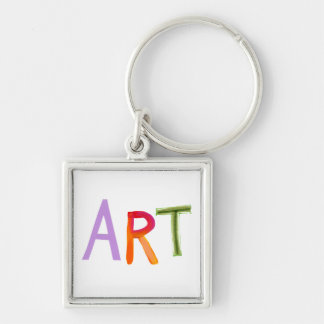 Art word fun colorful - for artists works of art key chain