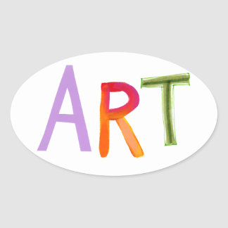 Art word fun unique design gifts for artists stickers