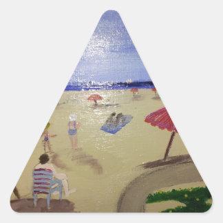 art work triangle sticker
