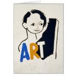 ART... WPA custom text [card] Card