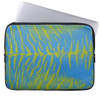 Art zebra tiger 4 laptop sleeve