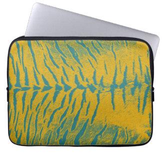 Art zebra tiger 5 laptop sleeve