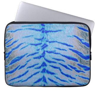 Art zebra tiger laptop sleeve