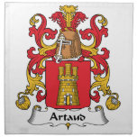 Artaud Family Crest Printed Napkin