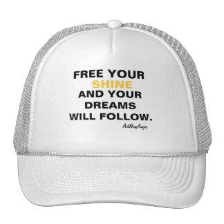 "ArtBuyAngie™ BRANDWEAR: ""Free Your Shine"" Trucker Hat"