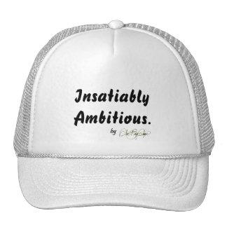 "ArtBuyAngie™  BRANDWEAR: ""Insatiably Ambitious."" Trucker Hats"