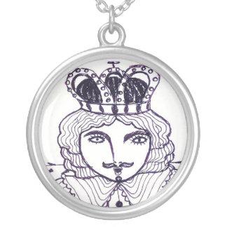 ArtByRae - King Silver Necklace