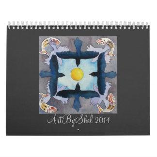 ArtByShel 2014 Wall Calendars
