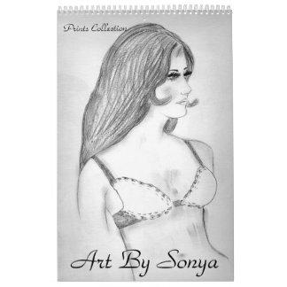 ArtBySonya Prints Collection Wall Calendar