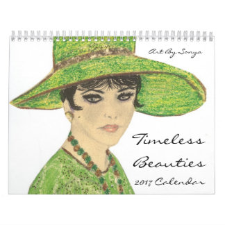 ArtBySonya Timeless Beauties 2017 Calendar