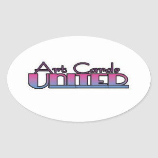 ArtCardsUnited Sticker1 Oval Sticker