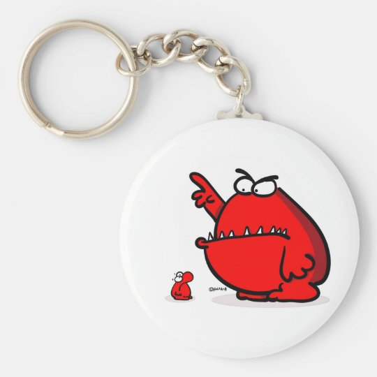 Artcartoon_sod_off_monster Keychain
