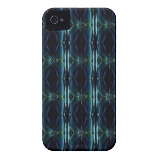 artdeco en verde retro y azul de la mirada iPhone 4 funda