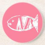 artdeco fish no4 coasters