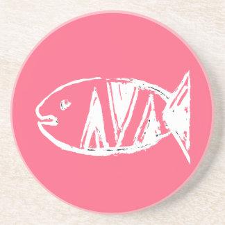 artdeco fish no4 drink coaster