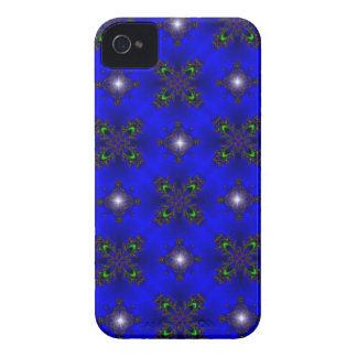 artdeco in retro look stars green and blue iPhone 4 Case-Mate case