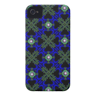 artdeco in retro look stars green blue and black Case-Mate iPhone 4 case