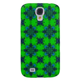 Artdeco in retrolook green and blue galaxy s4 case