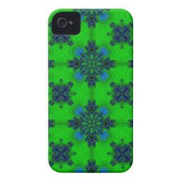 Artdeco in retrolook green and blue iPhone 4 case