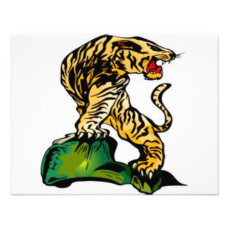 Arte #031 del tigre de Bengala Comunicado Personalizado