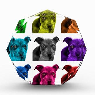 arte 0785 del perro del pitbull