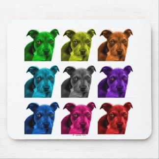 arte 0785 del perro del pitbull alfombrillas de raton