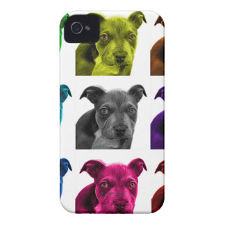 arte 0785 del perro del pitbull iPhone 4 protectores